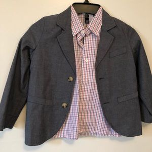 Boys suit jacket with shirt size 7